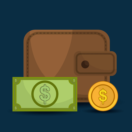abundance of money: Money savings and business design, vector illustration graphic