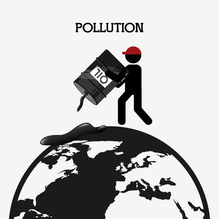 pollution: pollution from industry design, vector illustration eps10 graphic Illustration