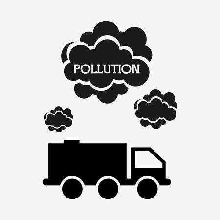 transport truck: pollution from industry design, vector illustration eps10 graphic Illustration