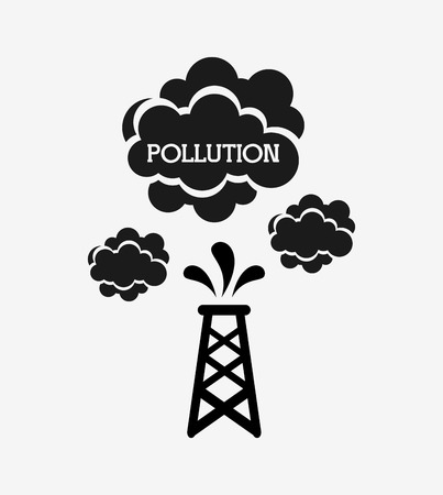 industry design: pollution from industry design, vector illustration eps10 graphic Illustration