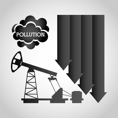 toxic cloud: pollution from industry design, vector illustration eps10 graphic Illustration