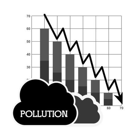 poison arrow: pollution from industry design, vector illustration eps10 graphic Illustration