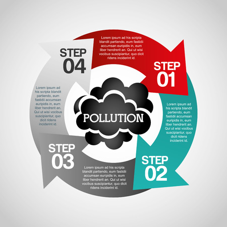 toxic cloud: pollution from industry design, vector illustration eps10 graphic Stock Photo