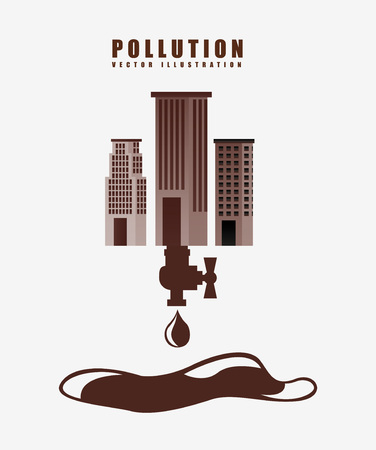 gas tap: pollution from industry design, vector illustration eps10 graphic Illustration