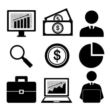 financial success: Stock market with statistics graphic design, vector illustration eps10 Illustration
