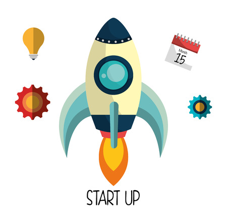 new opportunity: Start up business company graphic design, vector illustration