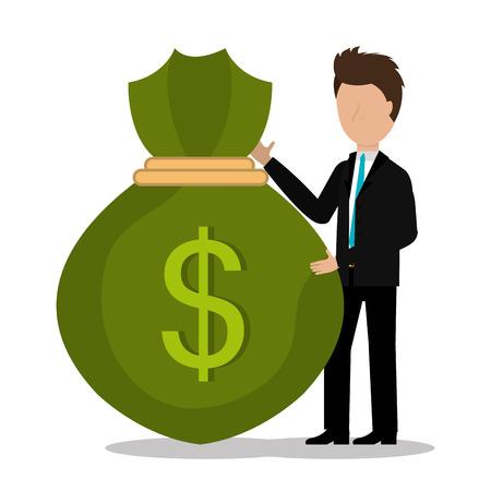 profits: Money and business profits design, vector illustration graphic