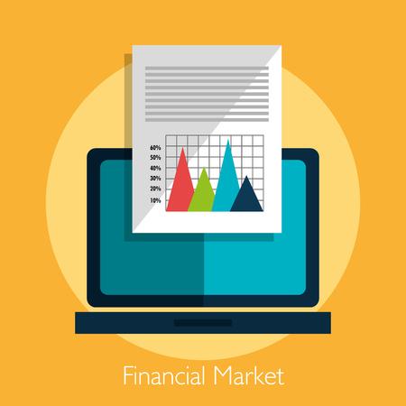 abundance: Financial market statistics graphic design, vector illustration