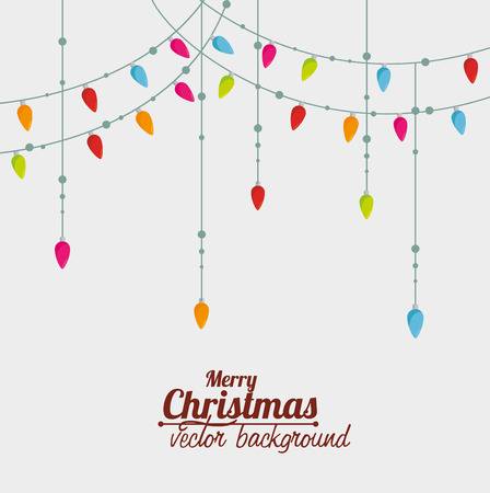 retro backgrounds: Merry christmas colorful card design, vector illustration graphic