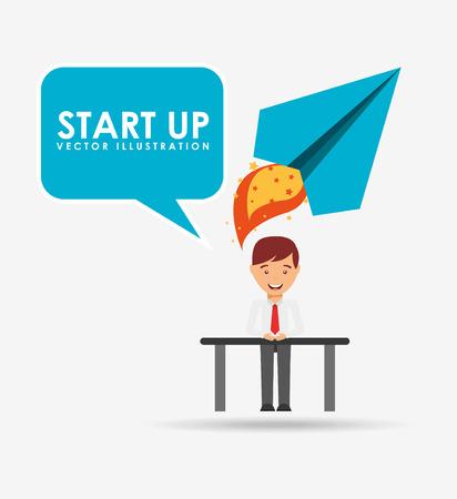 ligh: financial start up design, vector illustration eps10 graphic