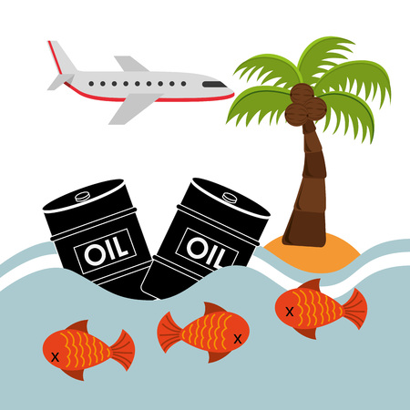 maritime accident: pollution infographics design, vector illustration eps10 graphic