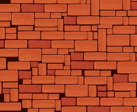 paredes de ladrillos: Pared de ladrillo de diseño gráfico, ilustración vectorial Tema Vectores