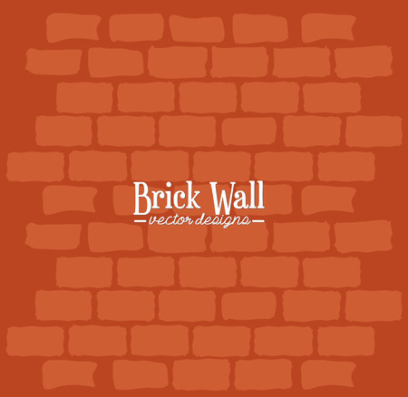 textured backgrounds: Brick wall graphic design, vector illustration theme Illustration