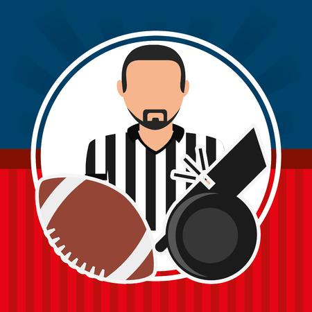 judge players: american football design, vector illustration eps10 graphic