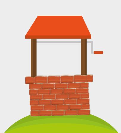 sediment: Brick wall graphic design, vector illustration theme Illustration