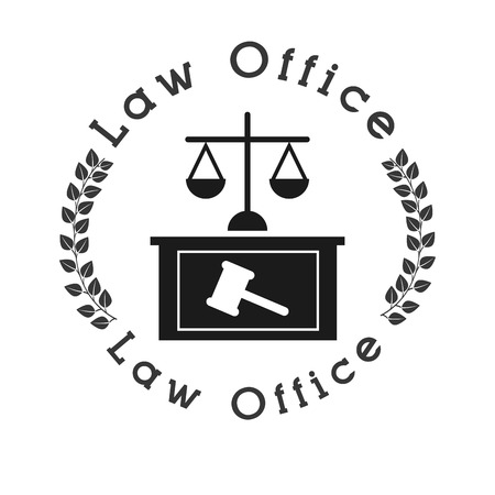 justiz: Recht und Gesetz Design, Vector Illustration eps10 Grafik Illustration