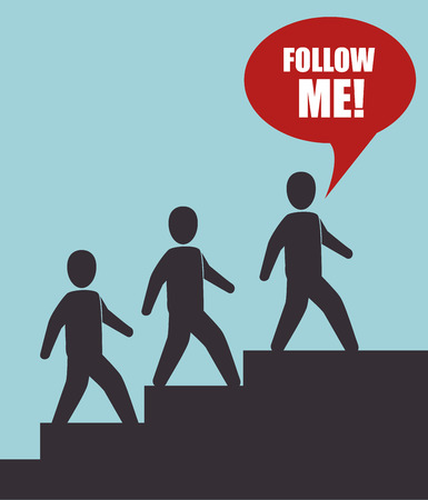 socializando: Follow me social trendy design, vector illustration graphic Vectores