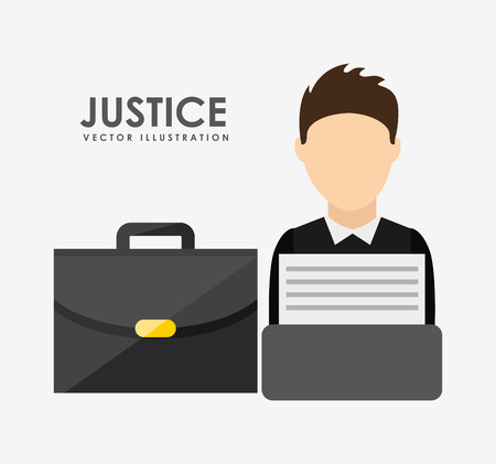 typewrite: justice and law design, vector illustration eps10 graphic