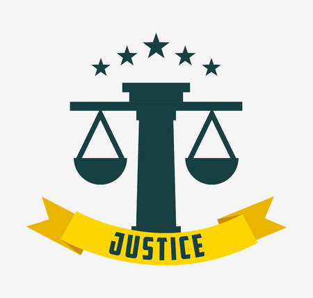 judgments: justice and law design, vector illustration eps10 graphic