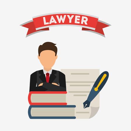 derecho penal: la justicia y la ley de diseño, ilustración vectorial gráfico eps10