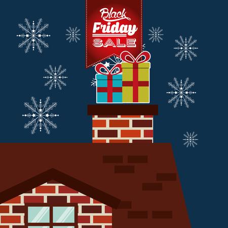 house clearance: black friday deals design, vector illustration eps10 graphic Illustration