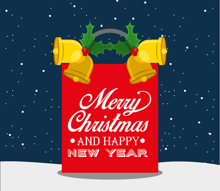 nigth: happy merry christmas design, vector illustration eps10 graphic