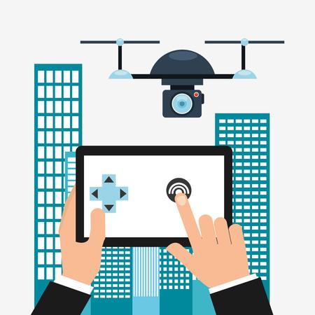 drone technologie ontwerp, vectorillustratie eps10 grafische