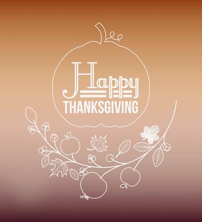 happy thanksgiving: happy thanksgiving design, vector illustration eps10 graphic Illustration