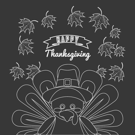 catoon: happy thanksgiving design, vector illustration eps10 graphic Illustration