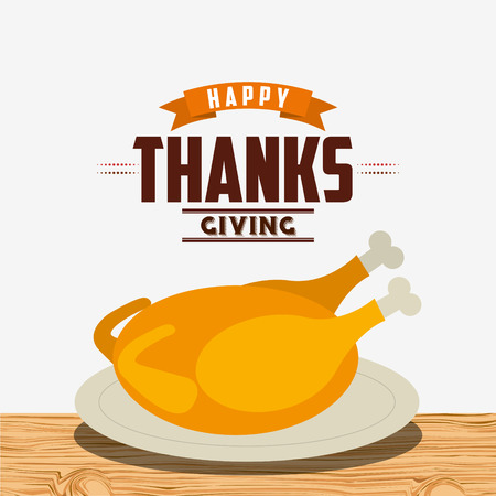 happy thanksgiving: happy thanksgiving design, vector illustration eps10 graphic Illustration