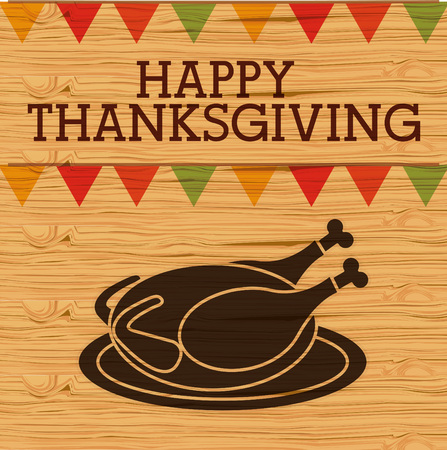 american table: happy thanksgiving design, vector illustration eps10 graphic Illustration