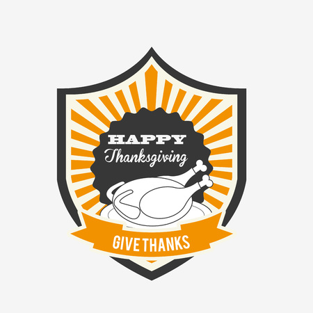 give thanks to: happy thanksgiving design, vector illustration eps10 graphic Illustration