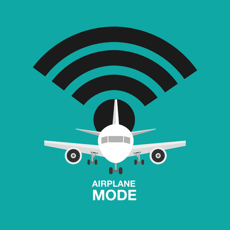 airplane mode  design, vector illustration eps10 graphic