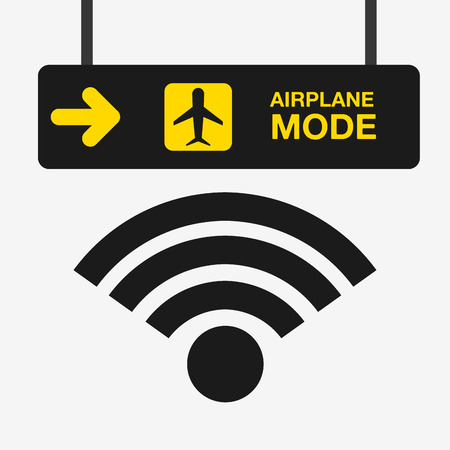 airplane mode  design Illustration