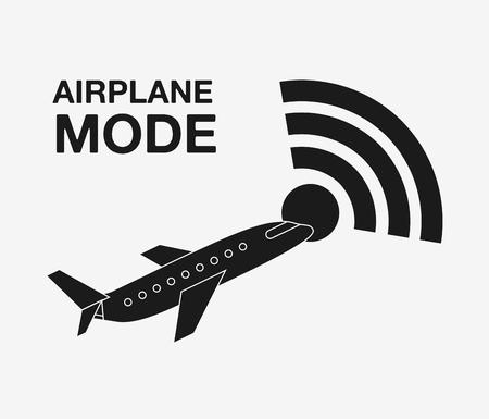 aerospace: airplane mode  design, vector illustration eps10 graphic