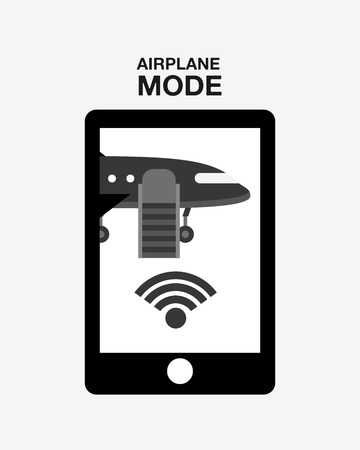 mode: airplane mode  design, vector illustration eps10 graphic