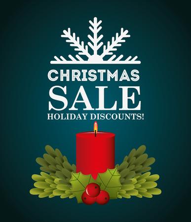 winter cherry: christmas sale design, vector illustration eps10 graphic