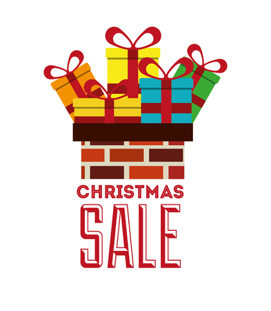 house clearance: christmas sale design, vector illustration eps10 graphic