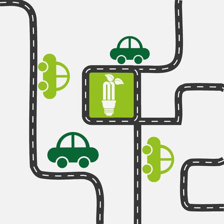 infraestructura: diseño de la infraestructura ecológica, ejemplo gráfico del vector eps10