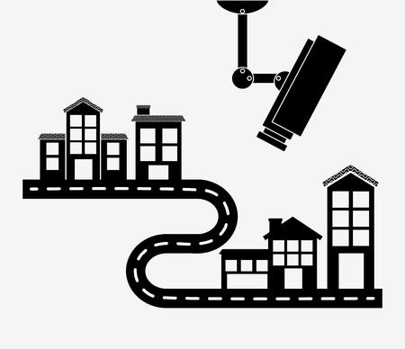 guard house: secure property design, vector illustration eps10 graphic Illustration