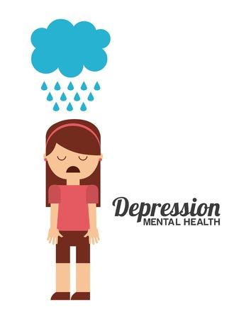 diseño de la salud mental, la ilustración vectorial gráfico eps10