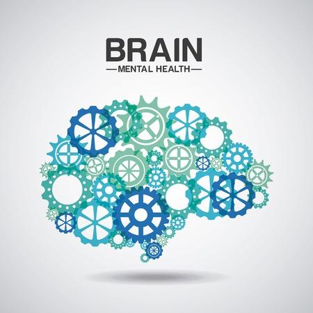 illness: mental health design, vector illustration eps10 graphic