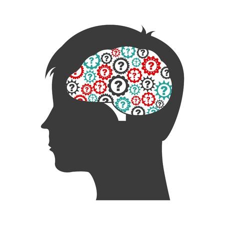 mente humana: diseño de la salud mental, la ilustración vectorial gráfico eps10