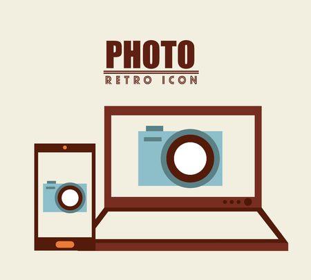 retro computer: isolated retro icon design, vector illustration eps10 graphic Illustration