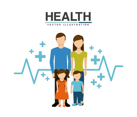 Familiengesundheitspflege Design, Vector Illustration eps10 Grafik