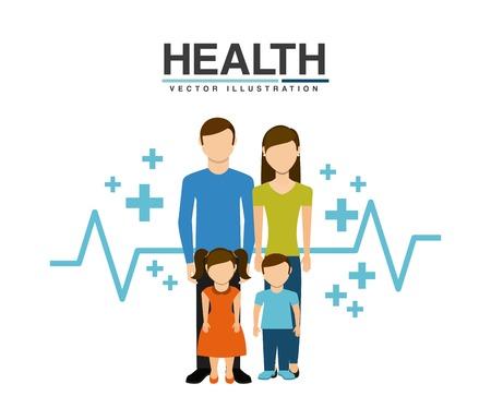 family health care design, vector illustration eps10 graphic