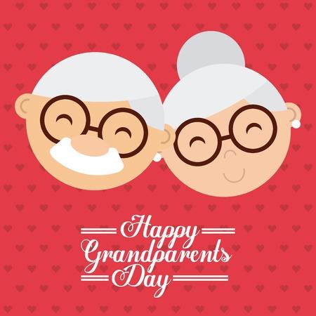 happy grandparents day design, vector illustration eps10 graphic Vettoriali