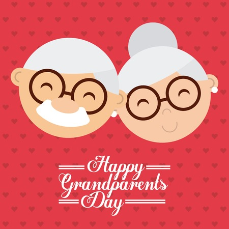 happy grandparents day design, vector illustration eps10 graphic Illusztráció