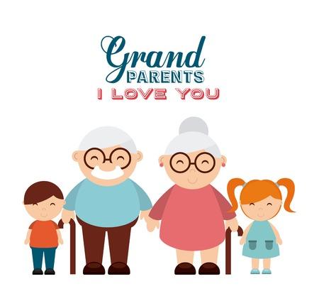 abuelos: felices los abuelos día diseño, ilustración vectorial gráfico eps10
