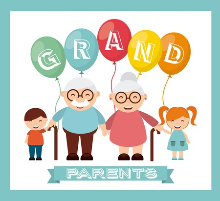 felices los abuelos día diseño, ilustración vectorial gráfico eps10